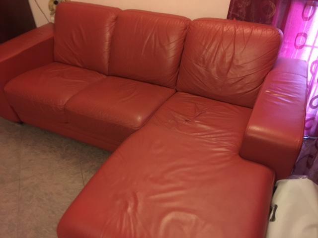 Divano Pelle Arancione : Vendesi divano pelle arancio roma viale posot class