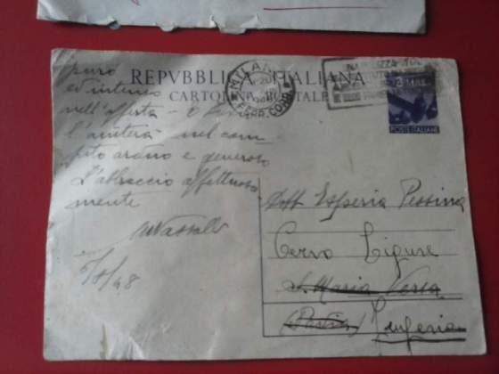 Cartolina postale 3 lire  repubblica italiana