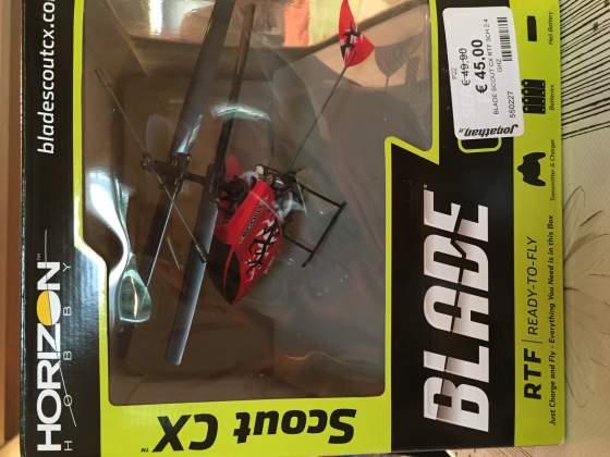 Elicottero radiocomandato BLADE SCOUT CX RTF 3Ch