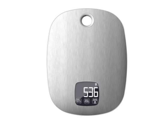 Eva bilancia da cucina digitale inox con timer kg. 5