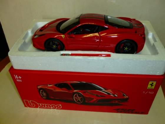 Ferrari 458 burago signature 1/18 nuova con scatola