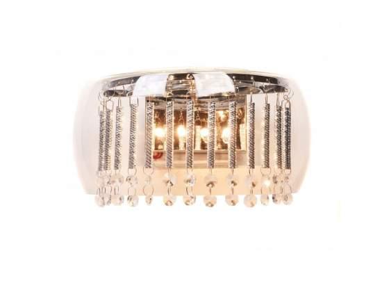 Applique lampada da parete a muro in vetro con cristalli
