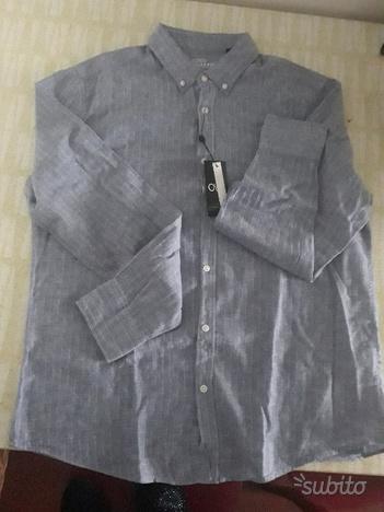 Bella camicia in lino e cotone XXL da rinnovare