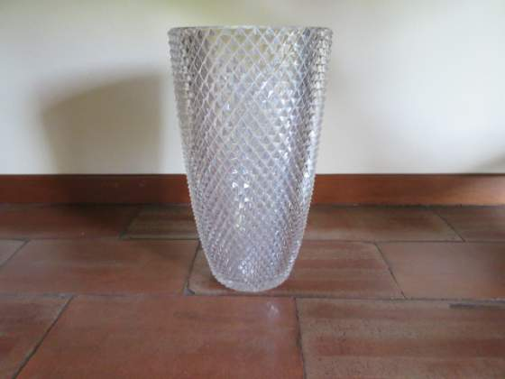 Grande vaso in cristallo anni 50