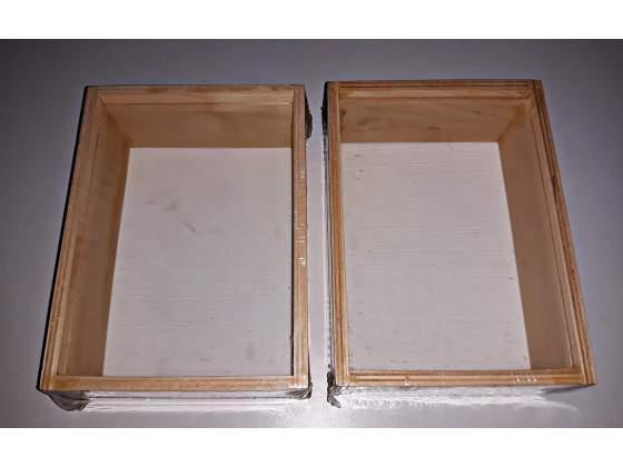 NUOVE Cassette in legno e vetro con possibilità di
