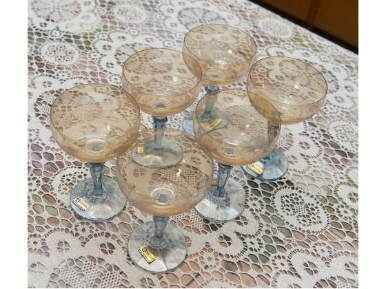 Set 6 bicchieri in cristallo