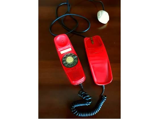 Telefono vintage rosso anni 70