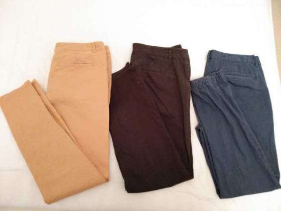 3 Chinos Pantaloni ASOS W33 L32 slim fit in Buono Stato