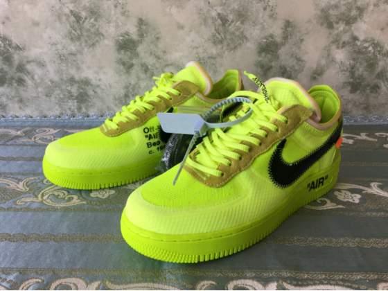 Nike Air Force 1 X Off White ( Volt ) dal 36 alla 45