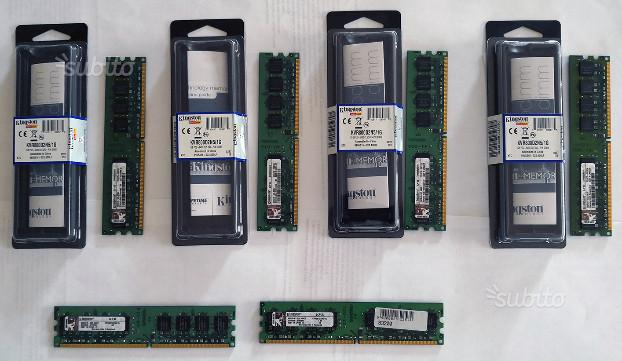 Ram DDR2 Kingston 6 banchi da 1 GB 800 Mhz