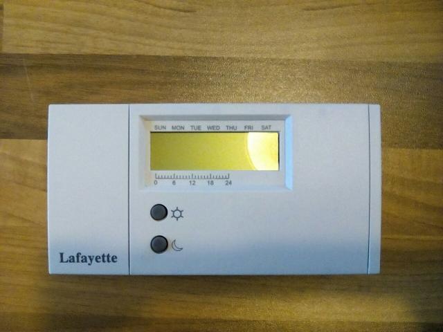 Cronotermostato lafayette cds 7 posot class for Lafayette cds 30