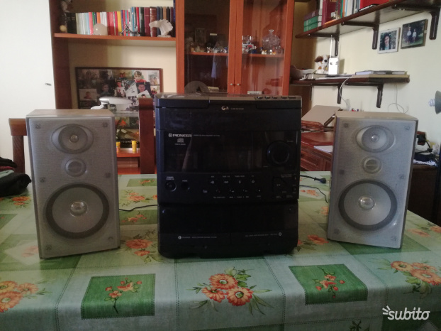 Mini Compatto stereo hi-fi Pioneer casse Sony