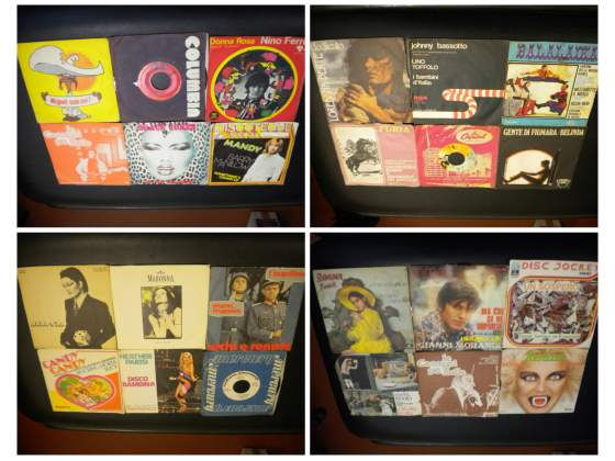 Stock dischi 45 giri vintage