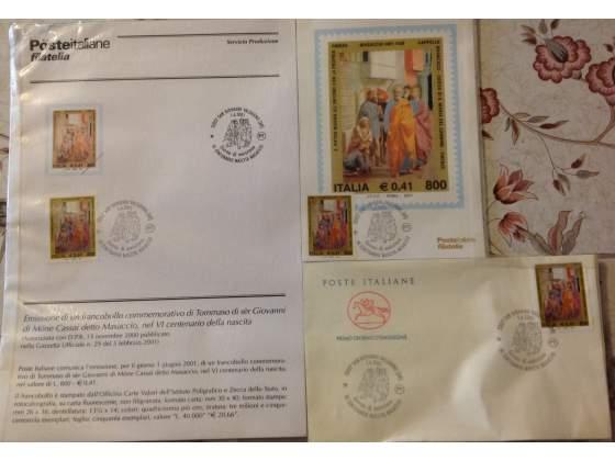 Filatelia: francobolli commemorativi di masaccio
