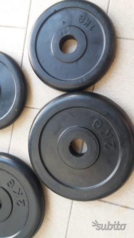Pesi dischi in ghisa per bilanciere da 2 kg e 1 kg