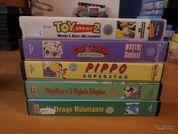 5 VHS di Walt Disney
