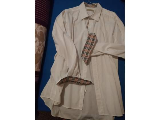Camicia divisa uomo bianca 6XL MOD. BURBERRY made turkey