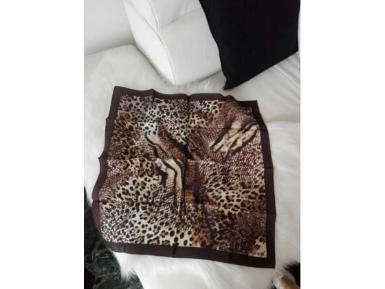 50 x 50 cm Guess Foulard strozzacollo donna 100/% seta leopardato e rosso dim