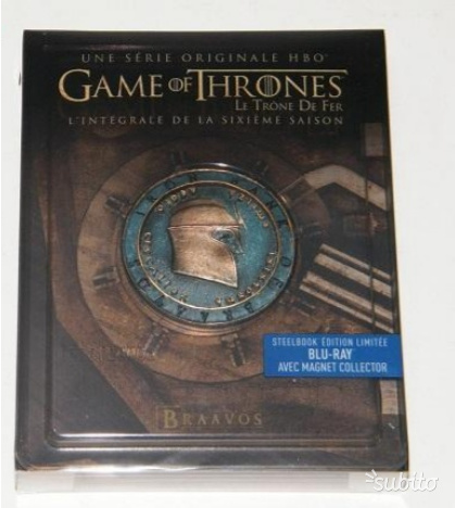 Game of thrones steelbook stagione 6