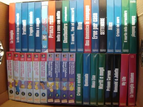 100 videocassete VHS collezione film