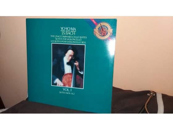 Disco 33 Giri Yo-Yo Ma J S Bach vol 1 SUITES NOS 1 & 2,