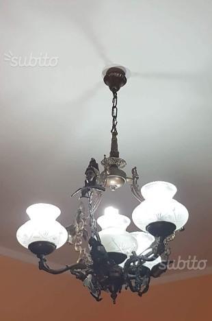 Antico lampadario 4 punti luce