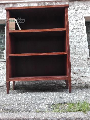 Libreria in legno intarsiato anni x140x35cm