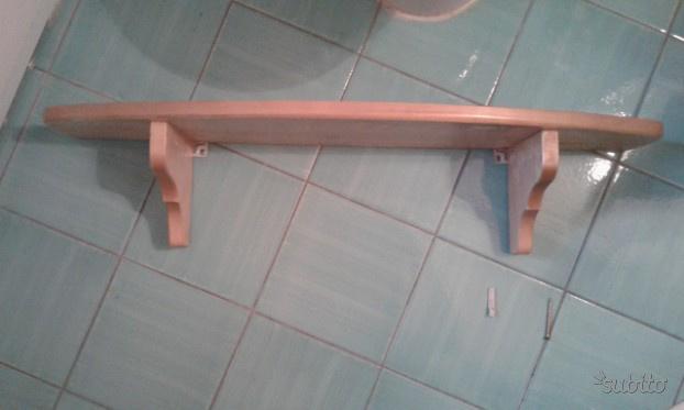 Mensola in legno massello lunga 80 centimetri
