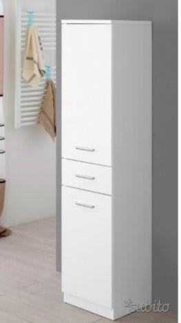 Mobile colonna x bagno bianco lucido