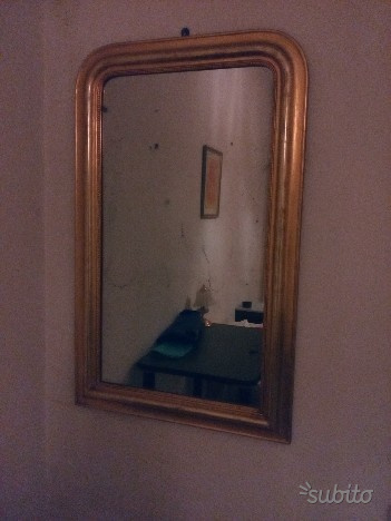 Specchio anni cornice legno oro barocco posot class - Specchio con cornice dorata ...