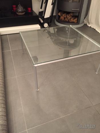 Tavolino da salotto in vetro cristallo
