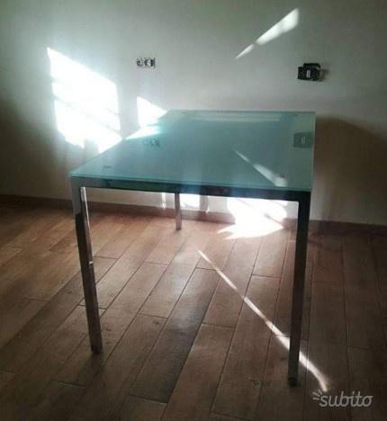 Tavolo cucina cristallo allungabile cm 80x120