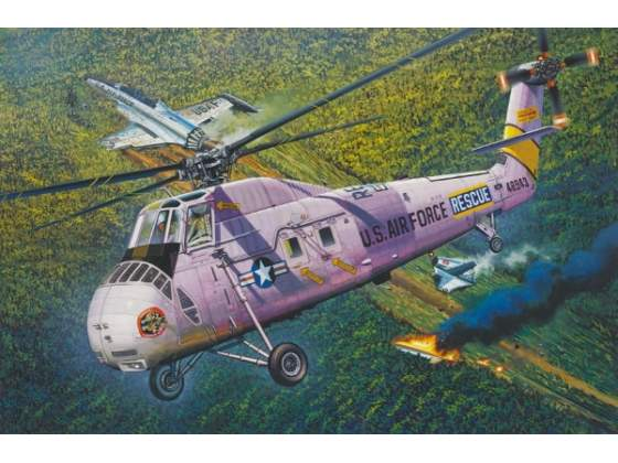 HH-34J USAF COMBAT RESCUE BY MRC KIT Trumpeter 1:48 TR
