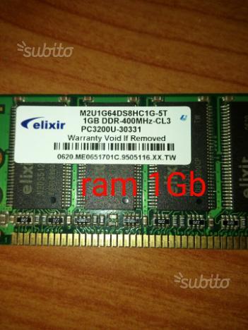 N* 2 memorie ram ddr 1 GB