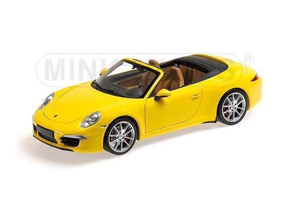 Porsche 911 Carrera S Cabrio  Yellow Minichamps 1:18