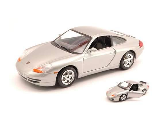 Porsche 911 Carrera  Silver 1:24 Burago BUS