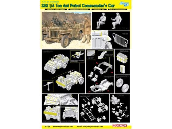 Sas 1/4 Ton 4X4 Patrol Commander Car Dragon Kit 1:35 D