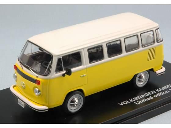 Vw T2 Bus Kombi  Yellow/White 1:43 Triple 9 T