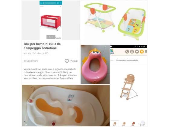 Box per bambini sediolone culla
