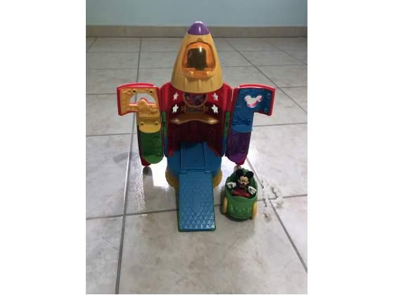 Il Razzo - Base Spaziale di Topolino Fisher Price Completo