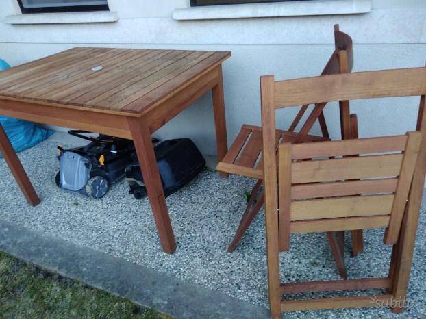 Tavolo in legno di faggio con 4 sedie