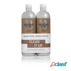 Tigi - duo pack bed head for men clean up 750 ml shampoo +