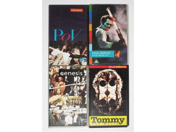 4 VHS Peter Gabriel - Genesis - The Who Tommy
