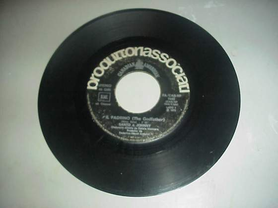 Il padrino disco 45 giri vinile colonna sonora del film raro