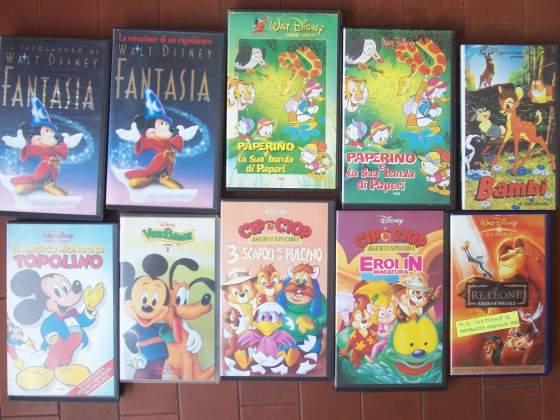 VHS Disney anni '80 e '90