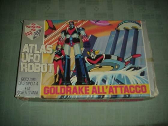 Goldrake atlas ufo robot mattel gioco da tavolo cartone tv