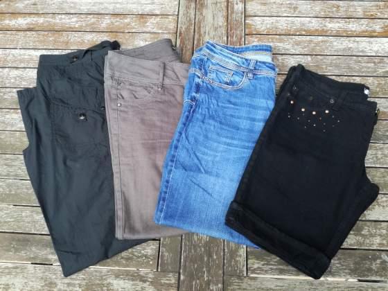 STOCK / LOTTO di 4 Jeans / Pantaloni da donna, taglia 48