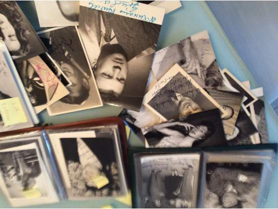 100 foto artisti anni 50 con autografo originale
