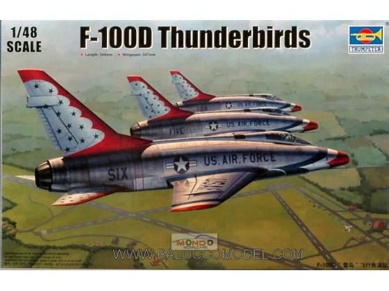 AEREO F 100 D THUND.KIT 1:48 Trumpeter TR