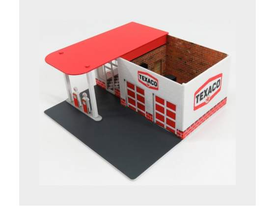 Accessories Set Officina Garage Texaco White Red GREENLIGHT
